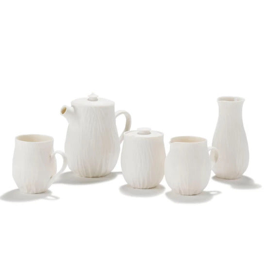 White Anemone Tableware Collection | Handmade by Jane Burbidge - CoCo Contemporary Connoisseur Gift Store