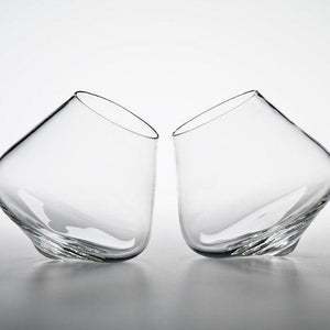 Stemless Kinetic Wine Glass Set of Two | Handmade By Emma Klau - CoCo Contemporary Connoisseur Gift Store