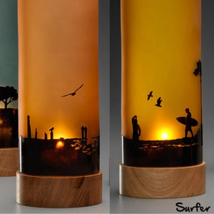 Sunset Silhouette Table Lamp | Australian Made By Llewelyn Ash - CoCo Contemporary Connoisseur Gift Store