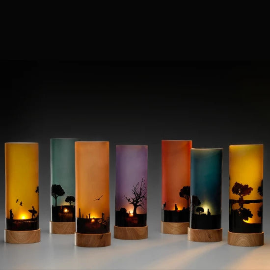 Sunset Silhouette Light | Handmade by Llewelyn Ash - CoCo Contemporary Connoisseur Gift Store