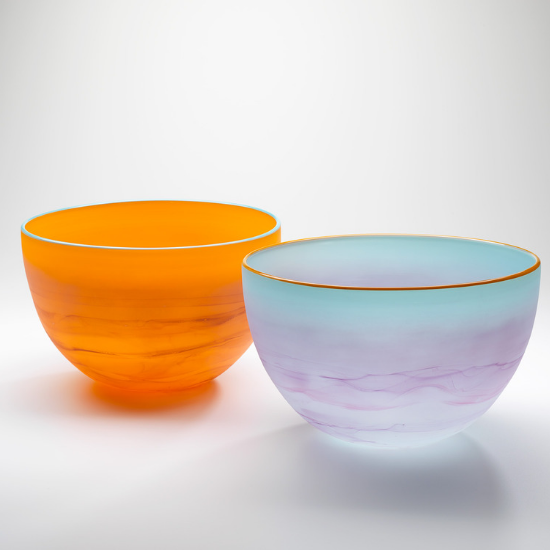 Sunset Glass Bowl | Australian Made Tableware by Llewelyn Ash - CoCo Contemporary Connoisseur Gift Store