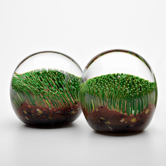 Turf Glass Paperweight