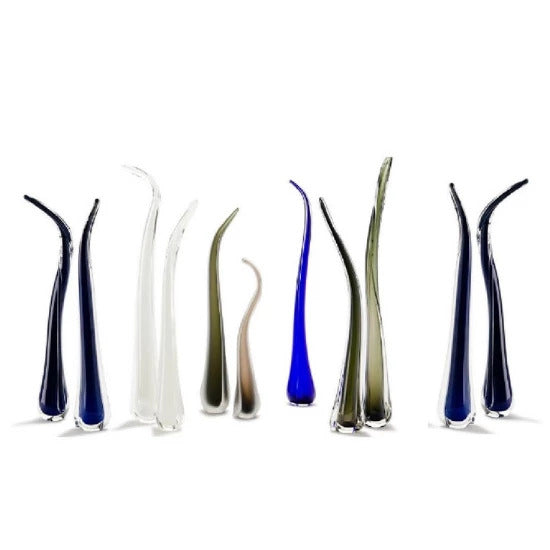 Tall Glass Urban Grass Sculpture | Handmade by Rebecca Hartman Kearns - CoCo Contemporary Connoisseur Gift Store