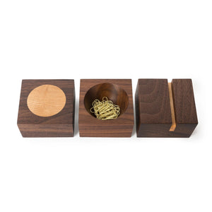 Walnut Wooden Desk Set | Design by Robyn Wood - CoCo Contemporary Connoisseur Gift Store