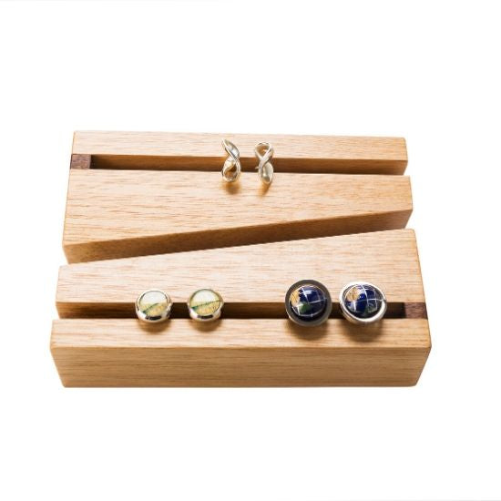 Modern Wooden Cufflink Holder - CoCo Contemporary Connoisseur Gift Store