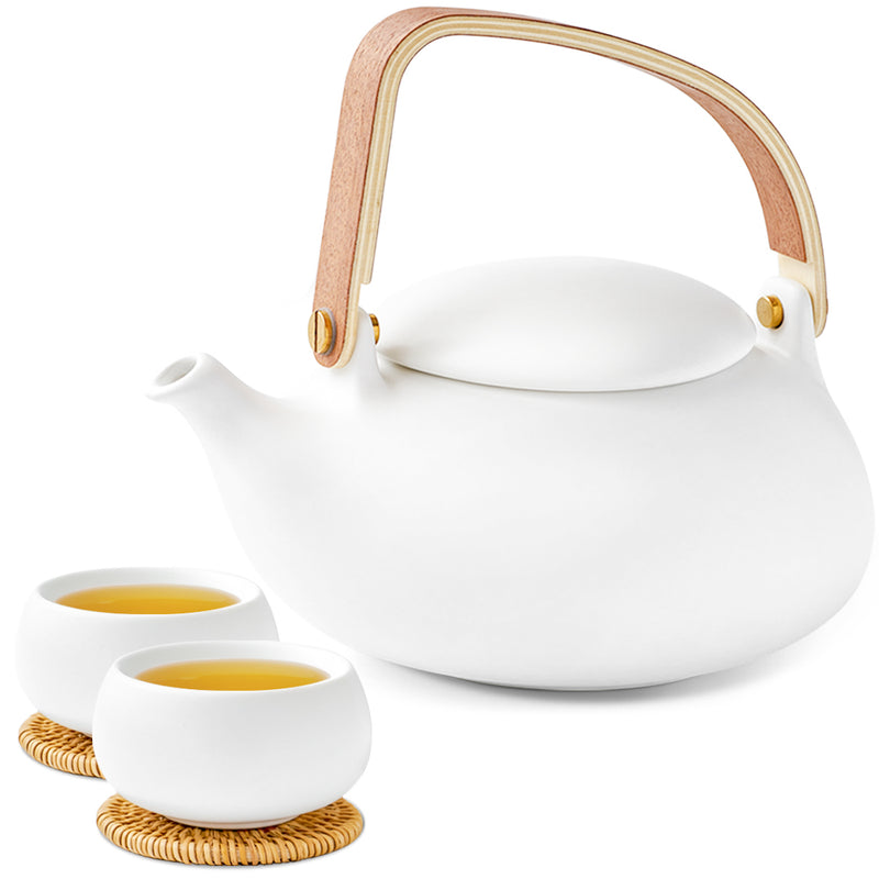 Epitex Exclusive Outdoor Tea Set | One tea pot with 2 cups (Cobble Stone series) - Epitex