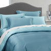 Epitex Nutex Bamboo Solid Dobby BA5807-Stone Blue | Canal Blue 1200TC Fitted Sheet Set - Epitex