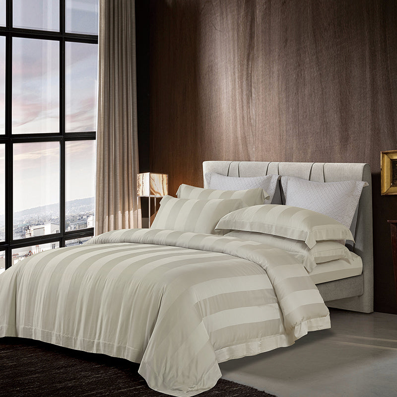 Cressent Dale Premium 1200TC Bamboo BD5804-2 Fitted Sheet Set | Bedset - Epitex