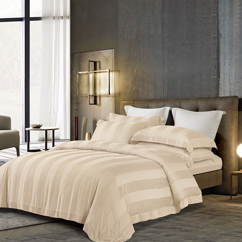 Cressent Dale Premium 1200TC Bamboo BD5804-3 Fitted Sheet Set | Bedset - Epitex