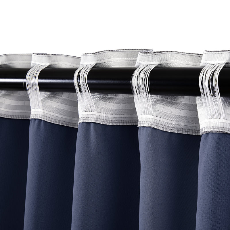Epitex Clasica CLA302-7 Ready Made Curtain (Navy) - Epitex