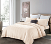 Cressent Dale Premium Bamboo CR5806-01 1200TC Nude Colour Fitted Sheet Set & Bedset - Epitex