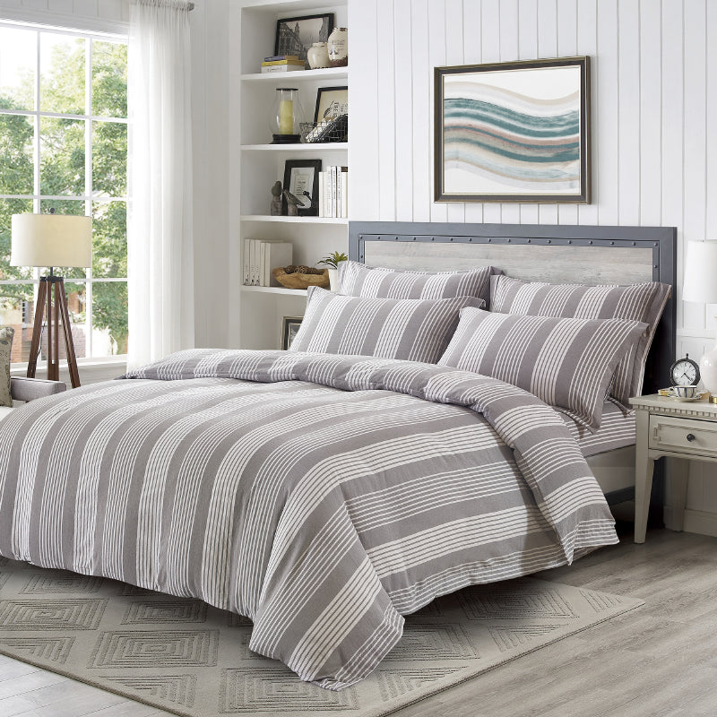 Epitex Urutora EC7804 1400TC Stonewashed Yarn-Dyed Bedsheet | Bedset - Epitex