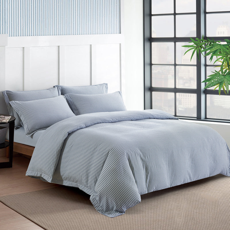 Epitex Urutora EC7802 Series 1400TC Stonewashed Yarn-Dyed Bedsheet 3 Colours | Bedset - Epitex