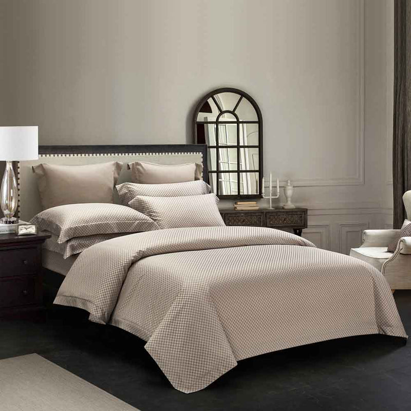 Epitex Hybrid Botanic Silk ET1213-2 1200TC DOBBY Fitted Sheet Set | Bedset | 3 Colors - Epitex