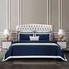 Cressent Dale Signature Collection CR2302-05 1600TC Midnight blue / White Supremely Egyptian Cotton - Epitex