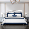 Cressent Dale Signature Collection CR2302-09 1600TC White / Midnight Blue Supremely Egyptian Cotton - Epitex