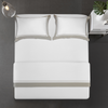 Cressent Dale Signature Collection CR2302-07 1600TC White / Silver Supremely Egyptian Cotton - Epitex