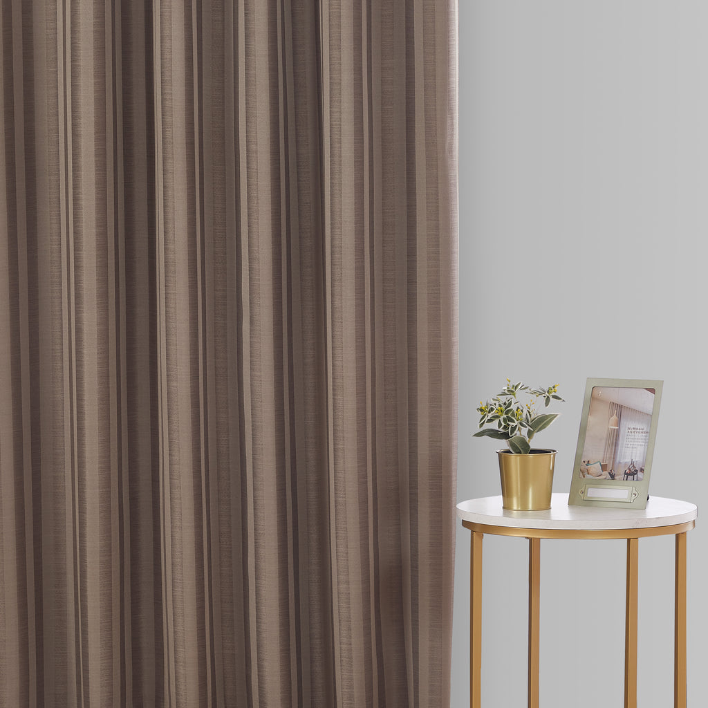 Epitex Luxury GRA200-2 Ready Made Curtain (Cocoa) - Epitex