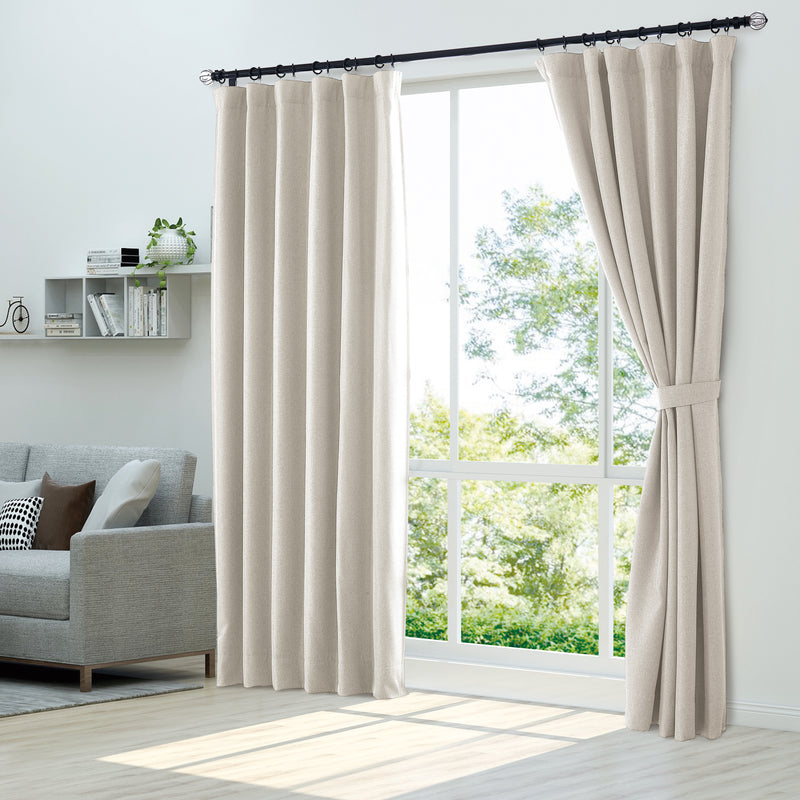 Epitex Luxury GRA201-3 Ready Made Curtain (Off White) - Epitex