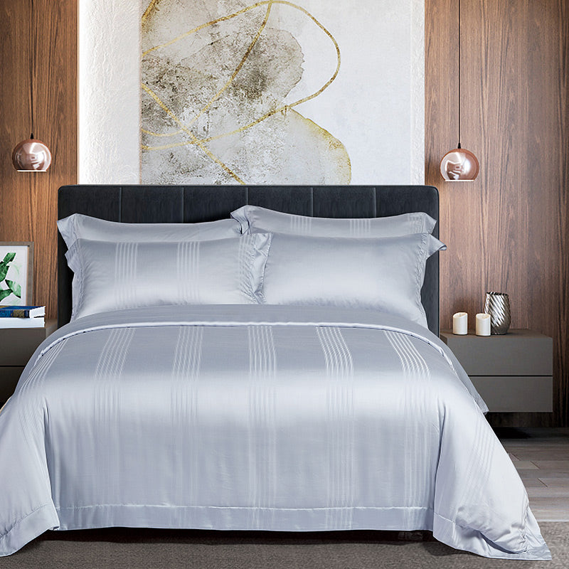 Cressent Dale 1500TC LA3302-1 Valenfil Collection Filagen Collagen Fibre Jacquard Bedset - Epitex
