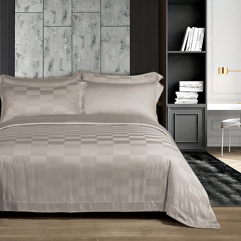 Cressent Dale 1500TC LA3302-6 Valenfil Collection Filagen Collagen Fibre Jacquard Bedset - Epitex