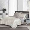 Epitex 1200TC TC1601-03 Silver Grey Hybrid Botanic Silk Dobby Fitted Sheet Set & Bedset - Epitex