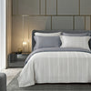 Epitex 1200TC TC1601-02 Silver Hybrid Botanic Silk Dobby Fitted Sheet Set & Bedset - Epitex