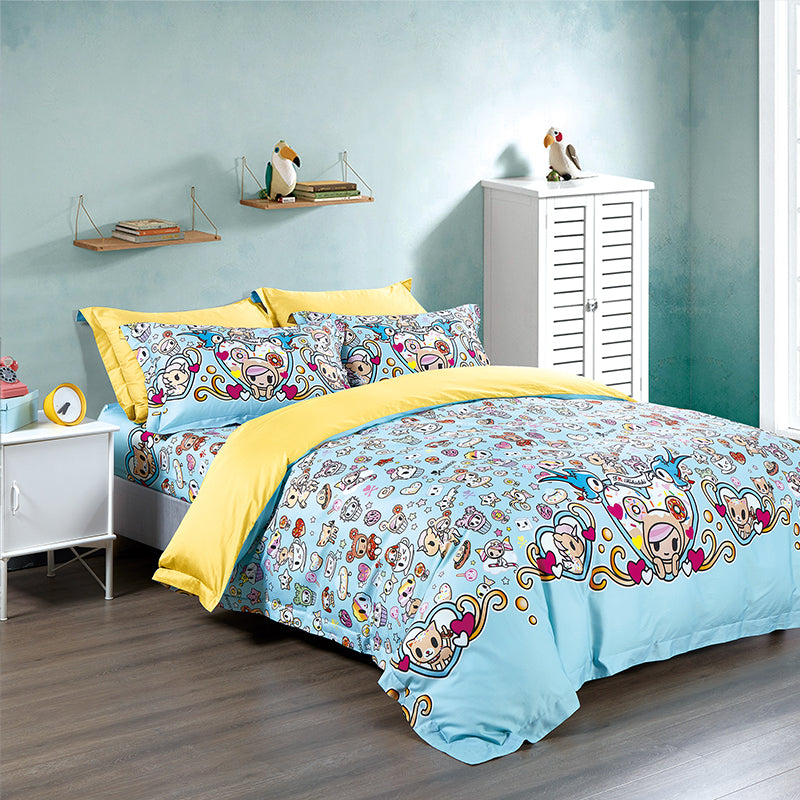 Tokidoki TK613-28 1000TC Egyptian Cotton Bedsheet | Bedset - Epitex