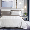 Epitex 1200TC TC1601-01 White Hybrid Botanic Silk Dobby Fitted Sheet Set & Bedset - Epitex