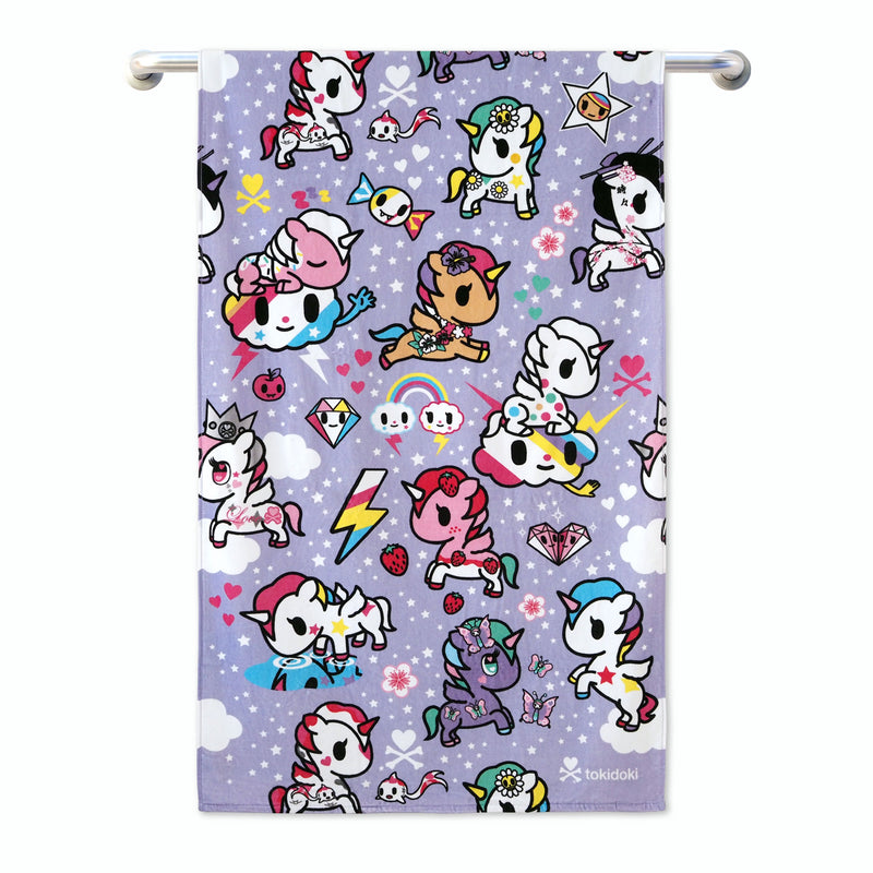 Tokidoki TK601-1 Bath Towel (3 Sizes) | Face Towel | Hand Towel | Gym Towel - Epitex