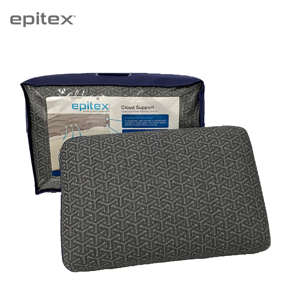 Epitex Charcoal Memory Support Classic Pillow 1+1 Promo ( 2 for $69) - Epitex