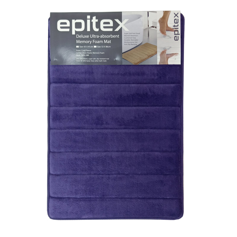 Epitex Deluxe Ultra-Absorbent Memory Foam Floor Mat - Epitex