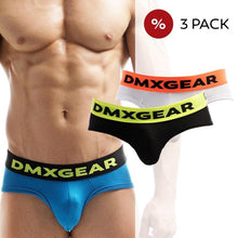 Load image into Gallery viewer, 3 PACK DMXGEAR LUXURY COTTON MEN'S BRIEF ANATOMICALLY FIT BRIEF