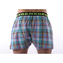 Load image into Gallery viewer, 3 PACK DMXGEAR LUXURY MEN'S LOOSE TRUNKS TARTAN SHADES OF BLUE