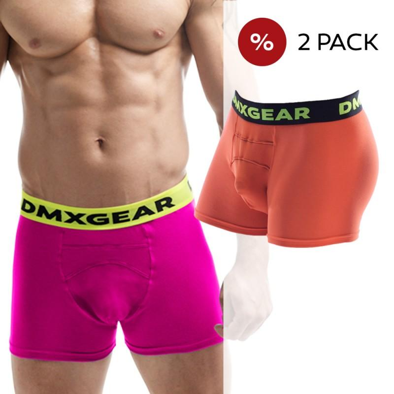 DMXGEAR 2 PACK OF LUXURY COTTON MEN'S BOXER BRIEF ANATOMICALLY FIT BOXER