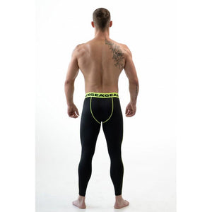 DMXGEAR ELASTIC PANTS MEN'S BLACK COMPRESSION PRO COMBAT TIGHTS PURE