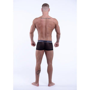DMXGEAR LUXURY BLACK MESH MEN'S BOXER BRIEF SWEET MESH BOXER