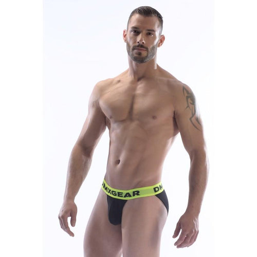 DMXGEAR LUXURY COTTON BLACK MEN'S SPORTY BRIEF ANATOMICALLY FIT SPORT BRIEF