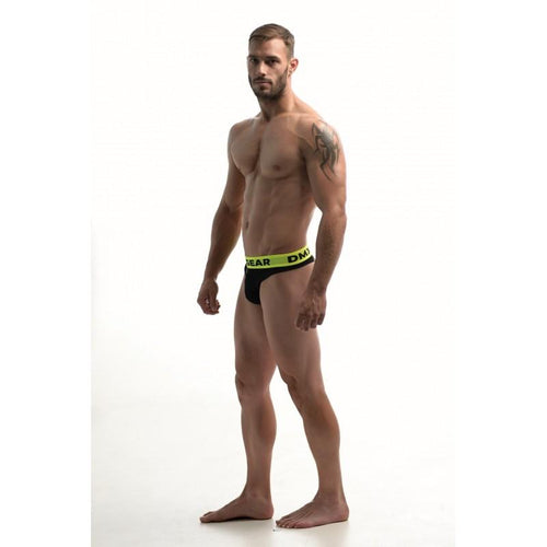 DMXGEAR LUXURY COTTON BLACK MEN'S THONG ANATOMICALLY FIT THONG