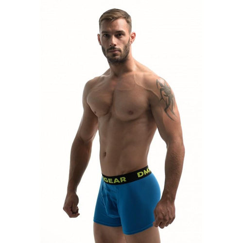 DMXGEAR LUXURY COTTON BLUE MEN'S BOXER BRIEF ANATOMICALLY FIT BOXER