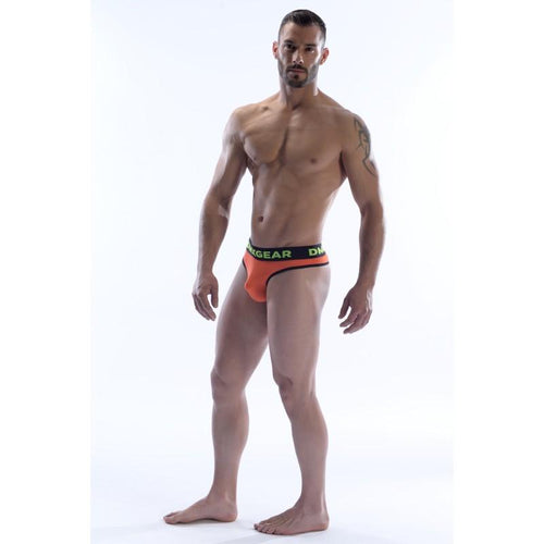 DMXGEAR LUXURY COTTON ORANGE MEN'S THONG ANATOMICALLY FIT THONG