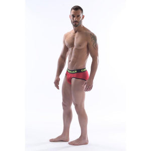 DMXGEAR LUXURY COTTON RED MEN'S BRIEF ANATOMICALLY FIT BRIEF