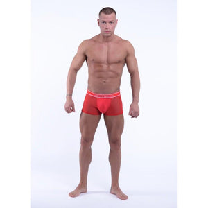 DMXGEAR LUXURY RED MESH MEN'S BOXER BRIEF SWEET MESH BOXER