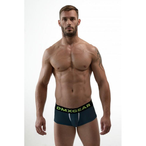 DMXGEAR MEN PERFORATED BLACK BOXERS HOLE NET BOXER