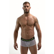 Load image into Gallery viewer, DMXGEAR MEN PERFORATED WHITE BOXERS HOLE NET BOXER
