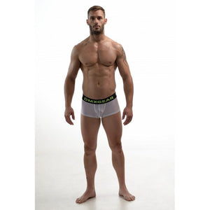 DMXGEAR MEN PERFORATED WHITE BOXERS HOLE NET BOXER