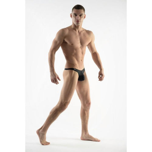DMXGEAR MEN'S BLACK SWIM THONGS SUN & FUN