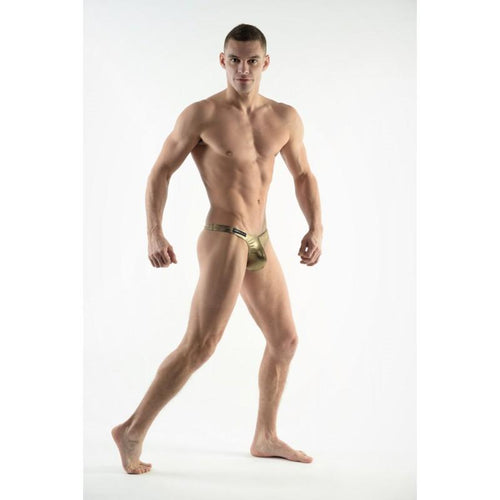 DMXGEAR MEN'S BRONZE SWIM THONGS SUN & FUN