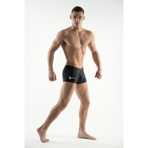 DMXGEAR MEN'S SWIM BOXER SHORTS BLACK SUN & FUN