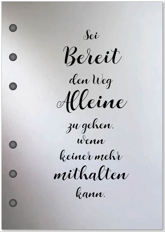 Vellum  | Text in DIN A6